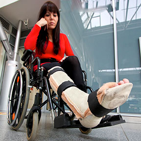 Many accidents can leave Irving residents in a wheelchair like this one. If you have been hurt, contact an Irving, Texas personal injury attorney to learn your rights.